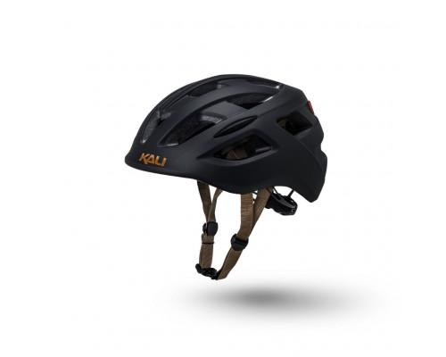 Шлем 02-50519146 URBAN/CITY/MTB с фонариком CENTRAL 19 отверстий, матовый/ черный S/M(52-58см) KALI