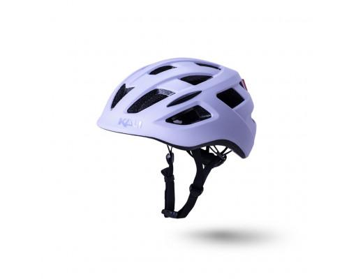 Шлем 02-50521126 URBAN/CITY/MTB с фонариком CENTRAL 19 отверстий, матовый/ фиолетовый S/M(52-58см) KALI