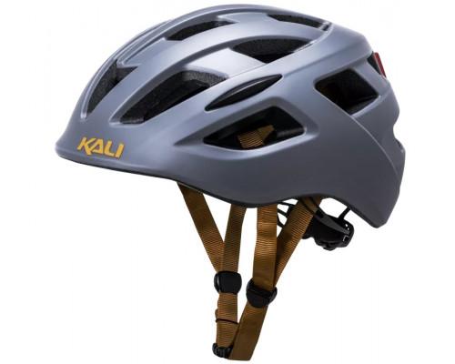 Шлем 02-519126 URBAN/CITY/MTB с фонариком CENTRAL Sld Mat Gry 19 отверстий, 52-58см темно-серый матовый KALI