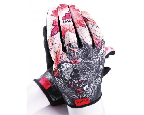Перчатки 03-000855 с длинными пальцами КЕВЛАР elastic kevlar DROPBEAR RESISTANCE для BMX и других экстримальнх видов размер.M оригинальный дизайн GAIN