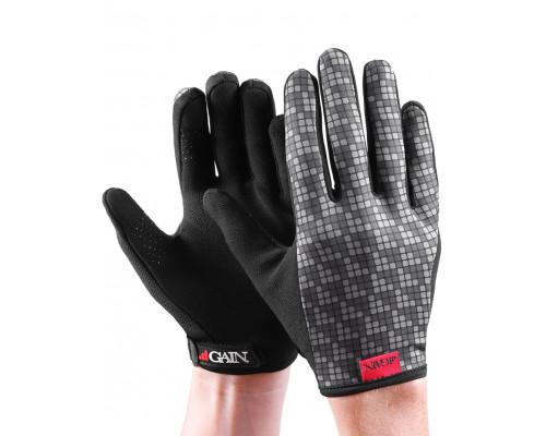 Перчатки 03-000909 с длинными пальцами КЕВЛАР elastic kevlar GREY RESISTANCE для BMX и других экстримальнх видов размер S серые GAIN
