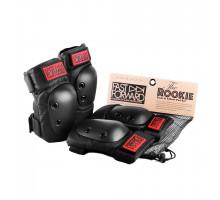 Защита 03-100682 комплект на колени и локти FAST FORWARD ROOKIE размер M (26-34, 30-38см) черная GAIN