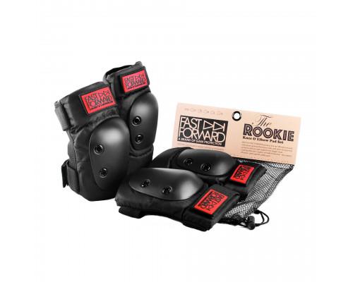 Защита 03-100684 комплект на колени и локти FAST FORWARD ROOKIE размер XL (30-38, 39-48) черная GAIN