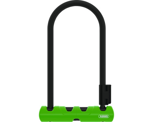 Замок 05-0034595 вело скоба 14мм, ключ, Ultra Mini 410/150HB 180х80мм с кронштейном класс защиты 8/15, 780гр, черно-зеленый ABUS