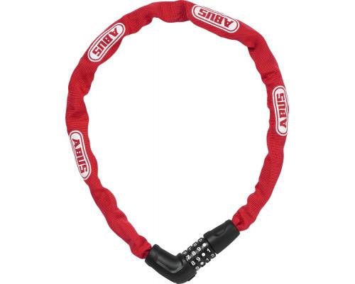 Замок 05-0072495 вело цепь 5мм, кодовый 4-х разрядный, Steel-O-Chain 5805C/75см класс защиты 4/15, 500гр, красный ABUS