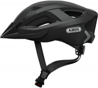 Шлем 05-0072545 Aduro 2.0 с LED фонариком и светоотражающие элементы L(58-62см) с регулировкой, 325гр, 14 отверстий, сетка от насекомых, черный ABUS