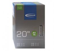 Камера. 20″ авто ниппель 05-10415710 AV7C EXTRA LIGHT 40/60-406 IB AGV 40mm. SCHWALBE