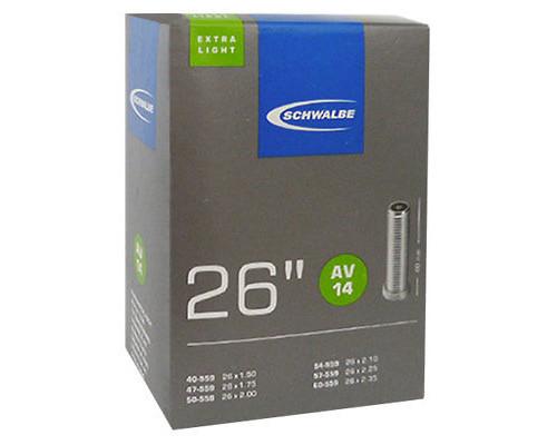 Камера. 26″ авто ниппель 05-10424340 AV14 EXTRA LIGHT (40/60-559) IB AGV 40mm. SCHWALBE