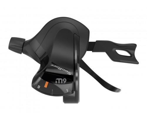 Переключатель скоростей/манетка DLM933.L200.0S0.HP 06-201309 триггер M933 левый, 2 скорости, трос 1700мм SUNRACE