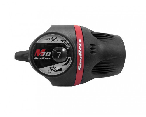 Переключатель скоростей TSM37.R60S.0S0.HP 06-201366 грипшифт M37 правый, 6 скоростей, с проводкой (тросик+рубашки) SUNRACE