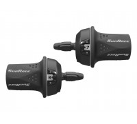 Переключатель скоростей TSM21.R600.GS0.HP, 06-201576 Грипшифт M21 правый, 6ск, трос 2100мм, SUNRACE