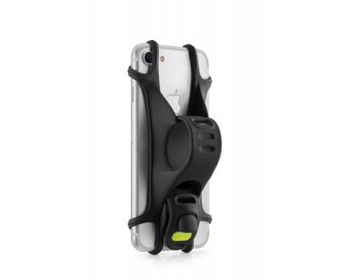 Держатель для смартфона 07-171010 силиконовый на руль универсальный 4.0'-6.0' BIKE TIE X черный BONE