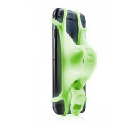 Держатель для смартфона 07-180014 силиконовый на руль универсальный 4.0'-6.5' BIKE TIE 2 люминисцентный зеленый BONE