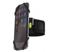 Держатель для смартфона 07-185020 силиконовый на руку (размер L) универсальный 4.0'-6.5' RUN TIE черный BONE