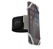 Держатель для смартфона 07-185023 силиконовый на руку (размер L) универсальный 4.0'-6.5' RUN TIE серый BONE