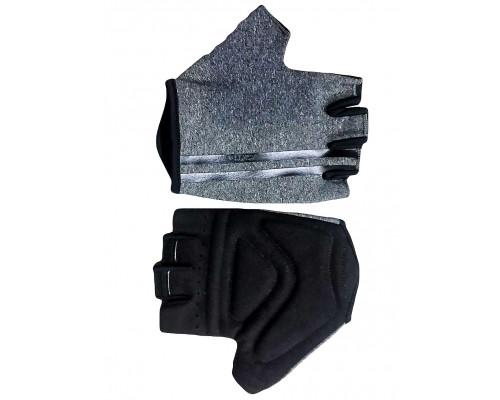 Перчатки 08-202203 лайкра CLASSIC серые, размер M, с петельками FUZZ