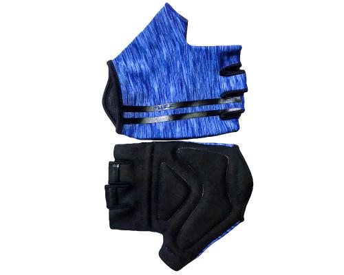 Перчатки 08-202212 лайкра CLASSIC синие, размер S, с петельками FUZZ