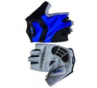 Перчатки 08-202242 лайкра RACE PRO черно-синие, размер S, с петельками, GEL, на липучке FUZZ