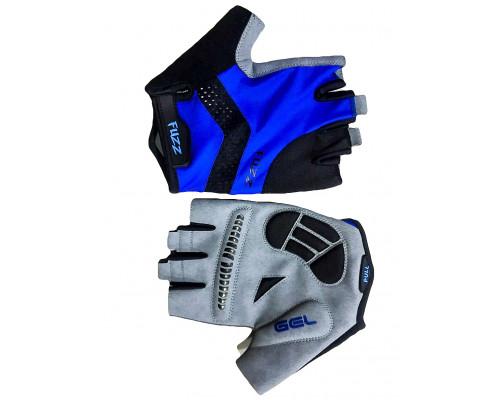 Перчатки 08-202246 лайкра RACE PRO черно-синие, размер XXL, с петельками, GEL, на липучке FUZZ
