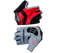 Перчатки 08-202251 лайкра RACE PRO черно-красные, размер XS, с петельками, GEL, на липучке FUZZ