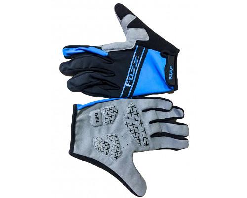 Перчатки 08-202714 лайкра, длинные пальцы, RACE LIGHT черно-синие, размер L, для сенсорных экранов, GEL, на липучке FUZZ