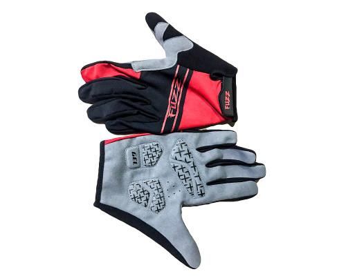 Перчатки 08-202722 лайкра, длинные пальцы, RACE LIGHT черно-красные, размер S, для сенсорных экранов, GEL, на липучке FUZZ