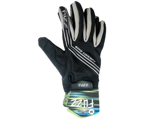 Перчатки 08-202801 неопреновые WIND PRO, черно-серые, утепленные, длинные пальцы, размер XS, для сенсорных экранов, GEL, на липучке FUZZ