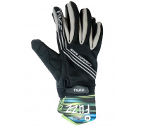 Перчатки 08-202802 неопреновые WIND PRO, черно-серые, утепленные, длинные пальцы, размер S, для сенсорных экранов, GEL, на липучке FUZZ