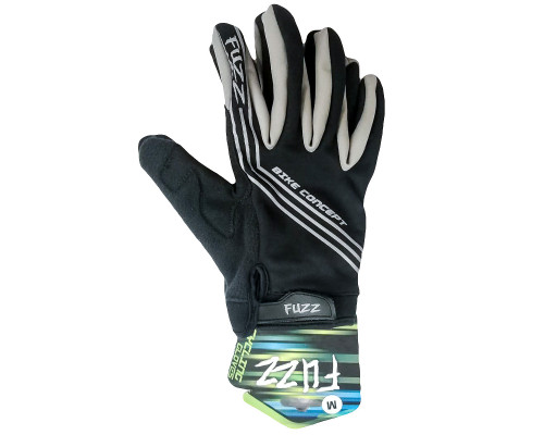Перчатки 08-202806 неопреновые WIND PRO, черно-серые, утепленные, длинные пальцы, размер XXL, для сенсорных экранов, GEL, на липучке FUZZ