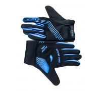 Перчатки 08-202811 неопреновые WIND PRO, черно-синие, утепленные, длинные пальцы, размер XS, для сенсорных экранов, GEL, на липучке FUZZ