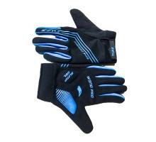 Перчатки 08-202813 неопреновые WIND PRO, черно-синие, утепленные, длинные пальцы, размер M, для сенсорных экранов, GEL, на липучке FUZZ