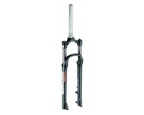 Вилка амортизационная 1-0180 27,5″х28,6 пружинно-эластамерная регулировка 80мм D черная RST CAPA Т