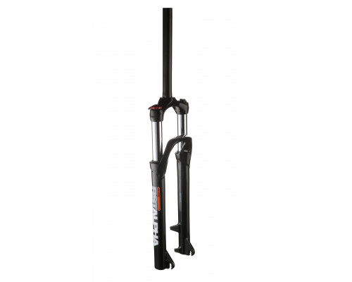 Вилка амортизационная 1-0225 27,5+″х28,6 пружинно-масляная, гидравлическая блокировка 100мм D, для втулки 110 мм черная RST ALPHA TNL