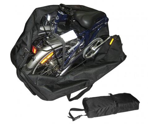 Чехол-тент 10-003 для переноски СКЛАДНОГО велосипеда (колеса 20″) Габариты:78x61х32см вес 0,8 кг цвета в ассортименте
