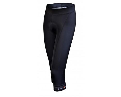 Велошорты/бриджи 12-439 женские Tortoli S-117-C13 Women Pro Knee Tights 3/4 с памперсом C13 черные размер XL Funkier