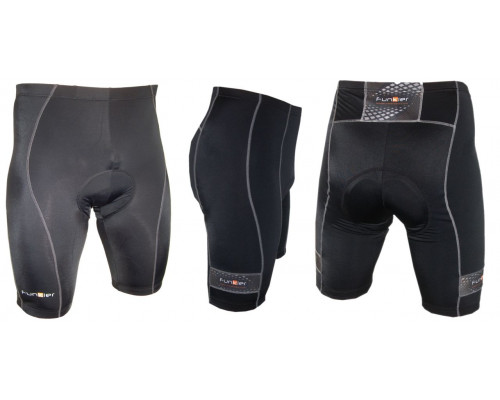 Велошорты 12-558 Venezia S-203-2-C14 Black Men Pro 10 panel Shorts с памперсом C14 черные размер XL FUNKIER