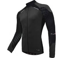 Велокуртка 12-677 Firenze J-730-7-LW Black Men Active LS Thermal Jersey материал Microfleece Warm Breathable с длинной молнией. черная размер S FUNKIER