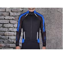 Велокуртка 12-691 Tolmezo WJ-1326 Black/Blue TPU Thermal (Windstopper, Waterproof, Breathable) PRO с длинной молнией. черно-синяя размер S FUNKIER