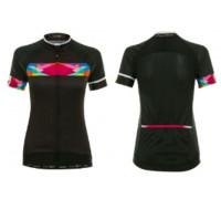 Велофутболка 12-772 женская Nugola JW-854 Black Women PRO SS Jersey черная с цветными вставками размер L FUNKIER