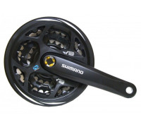 Система ALTUS EFCM311C222CL 2-3089 7-8 скоростей 42/32/22 шатуны 170мм с защитой черная  SHIMANO