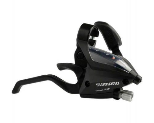 Переключатель TOURNEY ESTEF5002RV8AL 2-3172 шифтер + тормозная ручка 2пальца 8 скоростей правый черный  SHIMANO