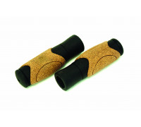 Ручки .С82-CORK на руль 3-193 резиновые с корковыми вставками 125мм эргоном. черно-коричневая CLARK`S