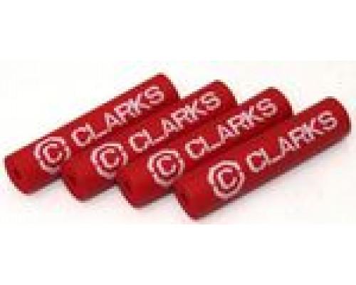 Защита рамы 3-249 от трения рубашек FPX4 резиновые трубочки 40мм 4шт. красные CLARK`S
