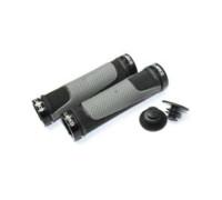 Ручки .CLOG308 на руль 3-333 резиновые 2-х компонентные, 130мм, с 2 фиксаторами черно-серые CLARK`S