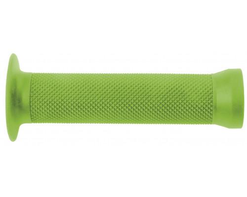 Ручки .С83 на руль 3-361 резиновые BMX 135мм торцевая защита + защита от проскальзования зеленые CLARK`S