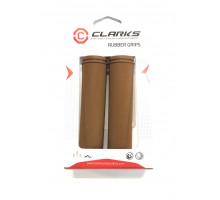 Ручки .С98-130 на руль 3-376 резиновые 130мм коричневые CLARK`S