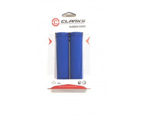 Ручки .С98-130 на руль 3-377 резиновые 130мм синие CLARK`S
