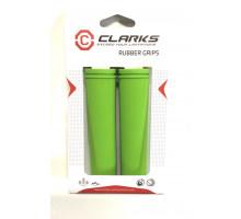 Ручки .С98-130 на руль 3-378 резиновые 130мм зеленые CLARK`S
