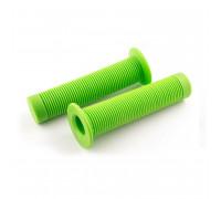Ручки .С105 на руль 3-395 резиновые BMX 135мм торцевая защита от проскальзывания. зеленые CLARK`S