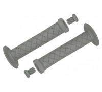 Ручки .С100 на руль 3-402 резиновые BMX 145мм торцевая защита + защита от проскальзования + 1 фиксатор серые CLARK`S